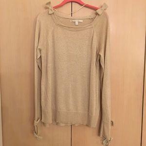 Lauren Conrad gold shimmer sweater